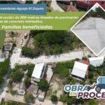Pavimentación del Fraccionamiento El Zapote Huatulco