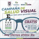 Jornada de salud visual, último día 17 de septiembre