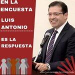 En la encuesta, Luis Antonio es la respuesta