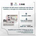 Módulo del INE estará realizando trámites en la Casa de la Cultura Sta. María Huatulco